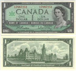 1967 -  1 DOLLAR 1967, BEATTIE/RASMINSKY (AU)