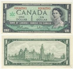 1967 -  1 DOLLAR 1967, BEATTIE/RASMINSKY (VF)
