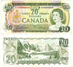 1969 -  20 DOLLARS 1969, BEATTIE/RASMINSKY (EF)