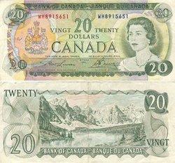 1969 -  20 DOLLARS 1969, LAWSON/BOUEY (VF)