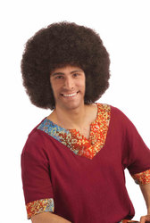 1970 -  PERRUQUE AFRO - BRUNE (ADULTE) -  AFRO