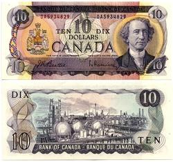 1971 -  10 DOLLARS 1971, BEATTIE/RASMINSKY (CUNC)