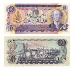 1971 -  10 DOLLARS 1971, BOUEY/RASMINSKY (CUNC)