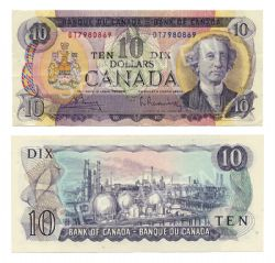 1971 -  10 DOLLARS 1971, BOUEY/RASMINSKY (VF)