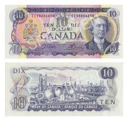 1971 -  10 DOLLARS 1971, CROW/BOUEY (CUNC)