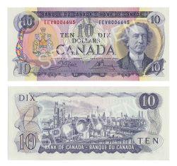 1971 -  10 DOLLARS 1971, CROW/BOUEY (GUNC)