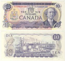 1971 -  10 DOLLARS 1971, CROW/BOUEY (UNCC)
