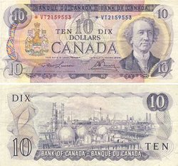 1971 -  10 DOLLARS 1971, LAWSON/BOUEY (VF)