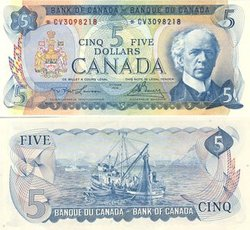 1972 -  5 DOLLARS 1972, LAWSON/BOUEY (AU)