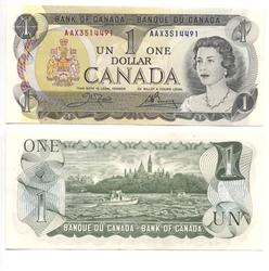 1973 -  1 DOLLAR 1973, CROW/BOUEY (UNC)