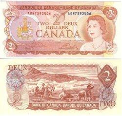 1974 -  2 DOLLARS 1974, CROW/BOUEY (CUNC)