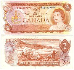 1974 -  2 DOLLARS 1974, CROW/BOUEY (F)