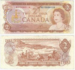 1974 -  2 DOLLARS 1974, CROW/BOUEY (VF)