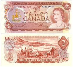 1974 -  2 DOLLARS 1974, LAWSON/BOUEY (CUNC)