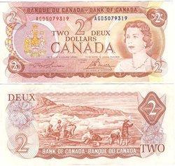 1974 -  2 DOLLARS 1974, LAWSON/BOUEY (EF)