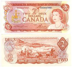 1974 -  2 DOLLARS 1974, LAWSON/BOUEY (GUNC)