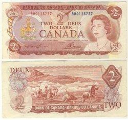 1974 -  2 DOLLARS 1974, LAWSON/BOUEY (VF)