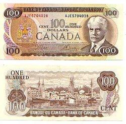 1975 -  100 DOLLARS 1975, CROW/BOUEY (UNC)
