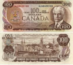 1975 -  100 DOLLARS 1975, LAWSON/BOUEY (EF)