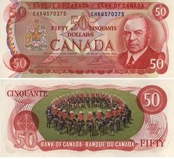 1975 -  50 DOLLARS 1975, CROW/BOUEY (CUNC)