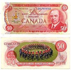 1975 -  50 DOLLARS 1975, CROW/BOUEY (EF)