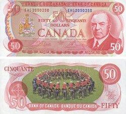 1975 -  50 DOLLARS 1975, CROW/BOUEY (UNC)
