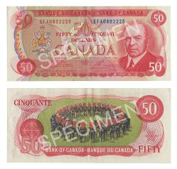 1975 -  50 DOLLARS 1975, CROW/BOUEY (VF)