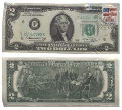1976 -  2 DOLLARS 1976 DES ÉTATS-UNIS, LOT DE 100 BILLETS (UNC)