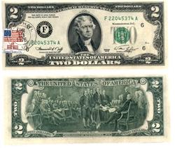 1976 -  2 DOLLARS 1976 DES ÉTATS-UNIS, LOT DE 25 BILLETS (UNC)