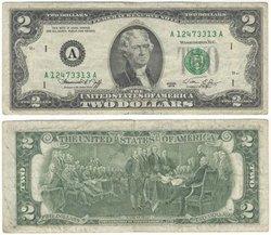 1976 -  2 DOLLARS DES ÉTATS-UNIS