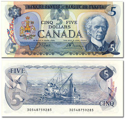 1979 -  5 DOLLARS 1979, CROW/BOUEY (CUNC)