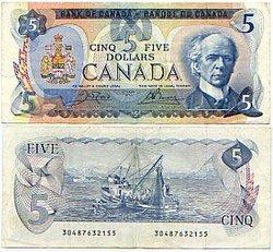 1979 -  5 DOLLARS 1979, CROW/BOUEY (EF)