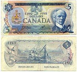 1979 -  5 DOLLARS 1979, CROW/BOUEY (VF)