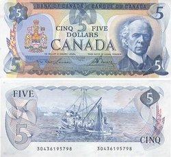 1979 -  5 DOLLARS 1979, LAWSON/BOUEY (AU)