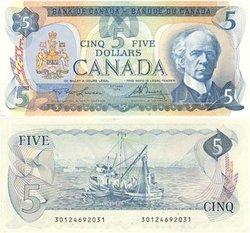 1979 -  5 DOLLARS 1979, LAWSON/BOUEY (CUNC)