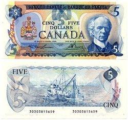 1979 -  5 DOLLARS 1979, LAWSON/BOUEY (UNC)