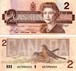 1986 -  2 DOLLARS 1986, BONIN/THIESSEN (EF)