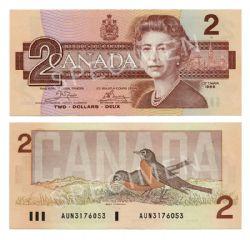 1986 -  2 DOLLARS 1986, CROW/BOUEY (UNC)