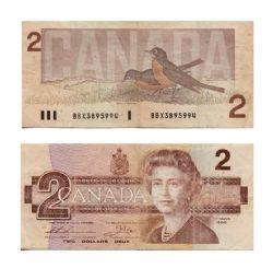 1986 -  2 DOLLARS 1986, THIESSEN/CROW (F)