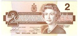 1986 -  2 DOLLARS 1986, THIESSEN/CROW (GUNC)
