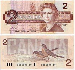 1986 -  2 DOLLARS 1986, THIESSEN/CROW (UNC)