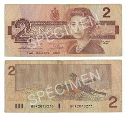 1986 -  2 DOLLARS 1986, THIESSEN/CROW (VG)