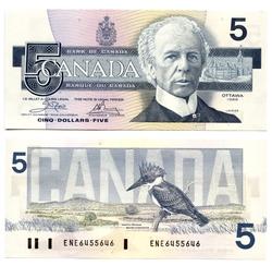 1986 -  5 DOLLARS 1986, CROW/BOUEY (CUNC)