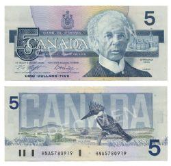 1986 -  5 DOLLARS 1986, KNIGHT/DODGE (EF)