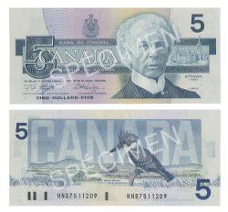 1986 -  5 DOLLARS 1986, KNIGHT/DODGE (GUNC)