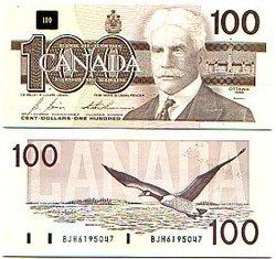 1988 -  100 DOLLARS 1988, BONIN/THIESSEN (UNC)