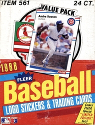 1988 BASEBALL -  FLEER (BOITE DE 24 PAQUETS)