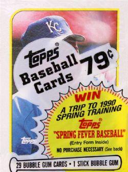 1989 BASEBALL -  CELLO BOX - TOPPS ARCHIVES (P30/B24)