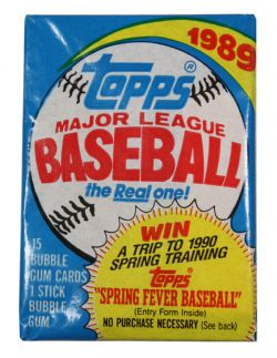 1989 BASEBALL -  TOPPS BASEBALL WAX PACK (P15)