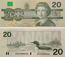 1991 -  20 DOLLARS 1991, BONIN/THIESSEN (CUNC)